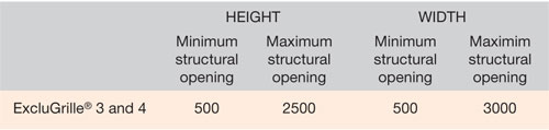 ExcluGrille-Dimensions-chart