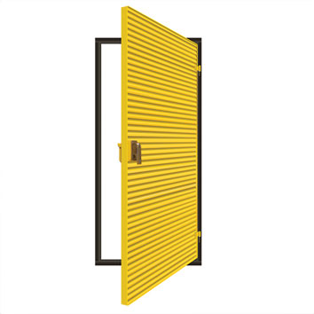ExcluLouvre® Door 3 single doorset.