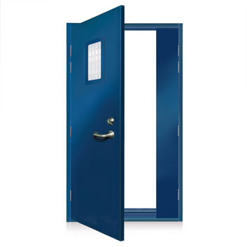 ExcluDoor® 3 Mk 3 FR with emergency escape option with push pad.