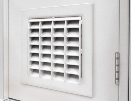 ExecDoor® 4 Mk 2 can be fitted with certified ExcluVent® 4 ventilated panels.