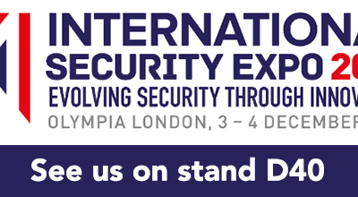 Don't miss us at the International Security Expo, Olympia, 3 & 4th December 2019