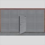 ExcluWall® with integrated ExcluLouvre® door.