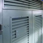 VentaDoor® doorset with optional removable louvred overpanel.