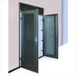 VentaDoor double doorset with ventilated overpanel.