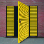 Double doorset with side panels.