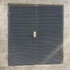 ExcluLouvre® door double leaf doorset with hasp and staple.