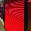 Red security door